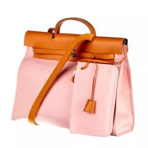 Hermes Bags - HERMES Rose Sakura Canvas Herbag Zip 39 MM Bag